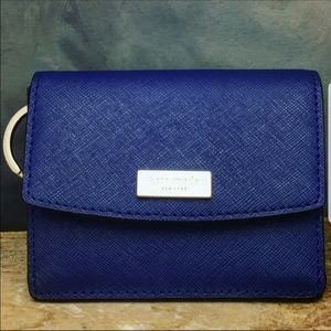 Kate spade mini Wallet and key holder in navy blue